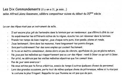 Les 10 commandements (Gassmann)